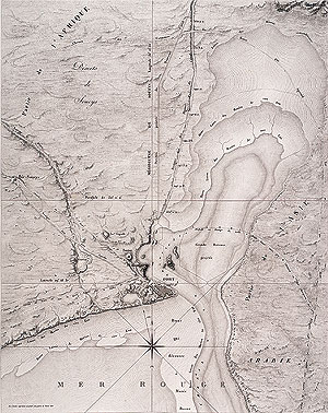 topographic map of Suez Bay