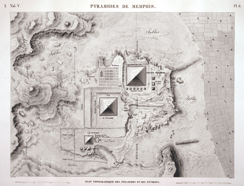 Image Gallery Napoleon And The Scientific Expedition To Egypt - Map of egypt pyramids and sphinx