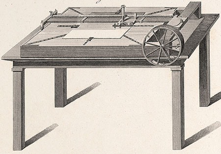 Conte's engraving machine